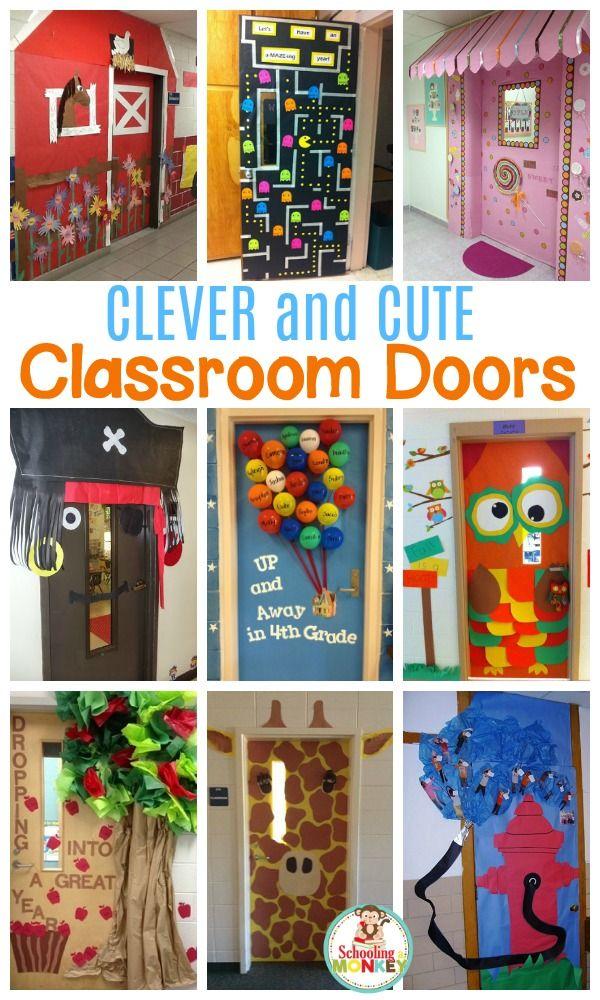 August Door Decorations Classroom