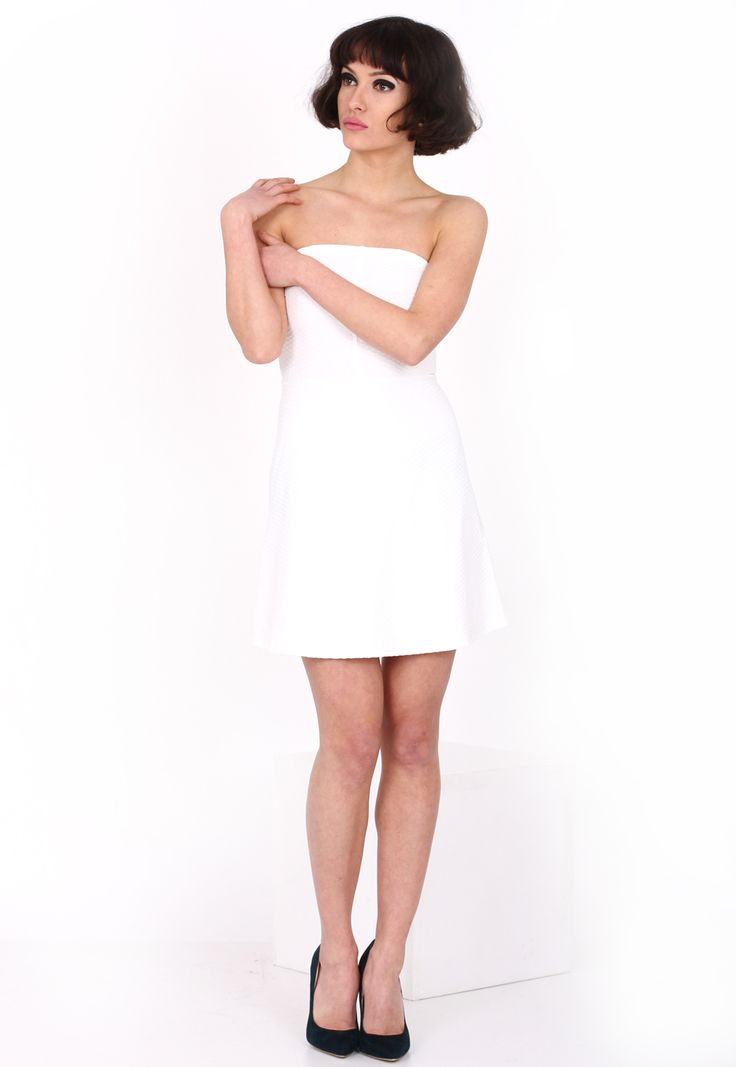 Rochie Bershka Collection White - doar 59,90 lei. Cumpara acum!