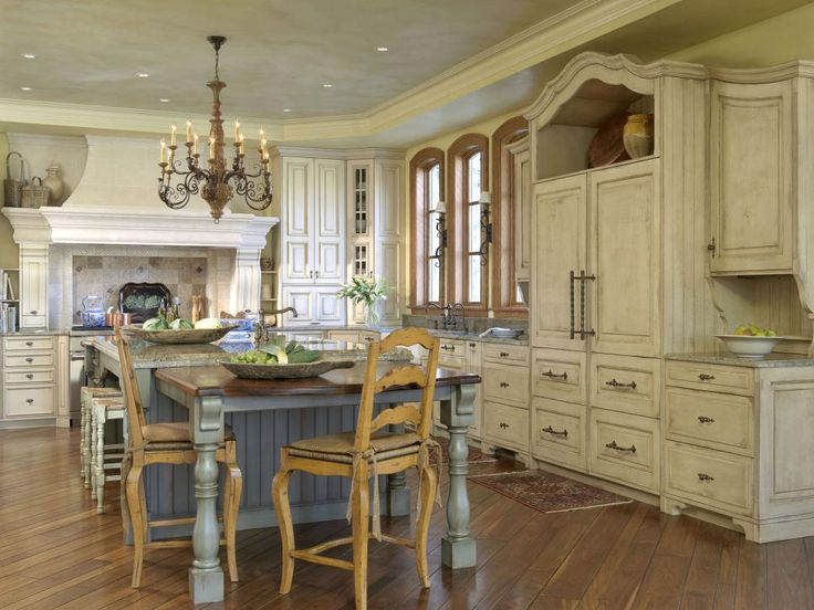 Old World Charm Is Exuded Throughout With Glazed White Cabinets, A Diagonal  Hardwood Floor. Country FrenchFrench Country KitchensFrench ... Part 91