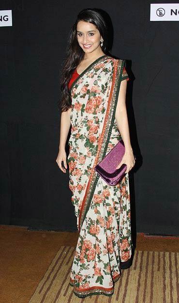 Shraddha Kapoor in Sabyasachi Floral Saree