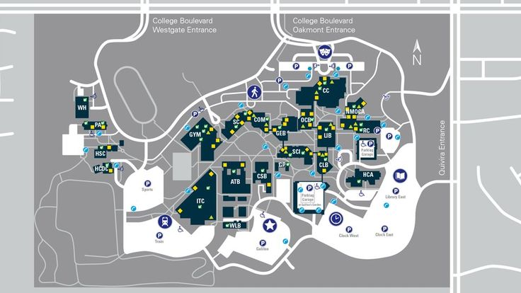 Campus Map and Parking Areas