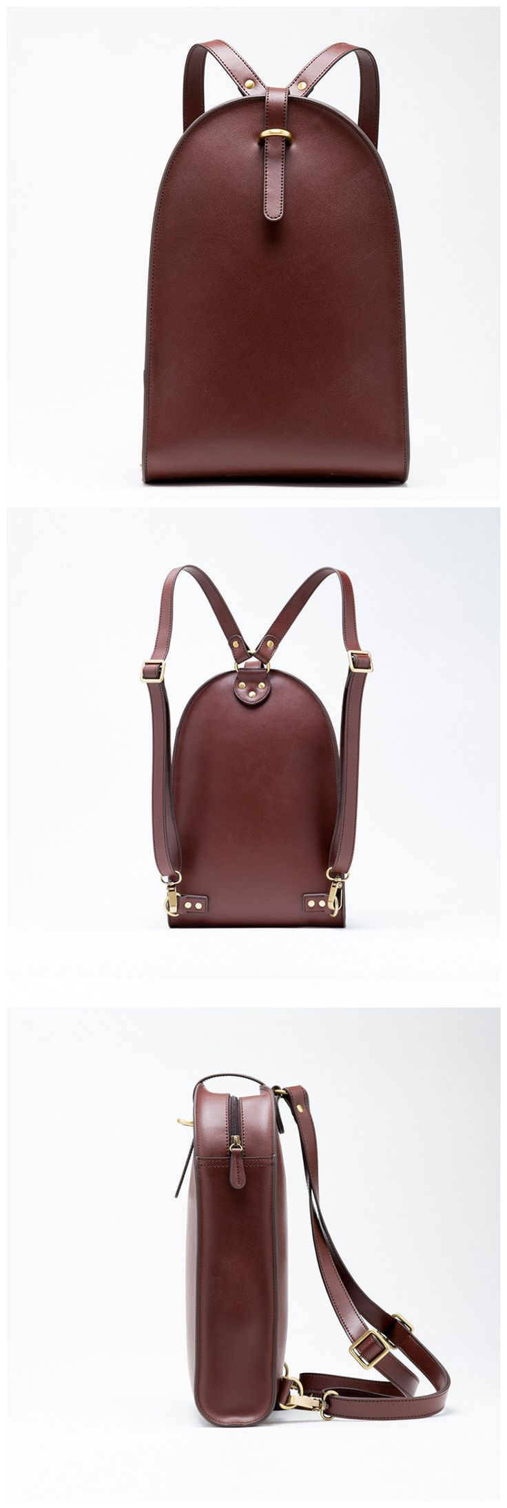 762862faea3d Ladies Brown Leather Backpack- Fenix Toulouse Handball
