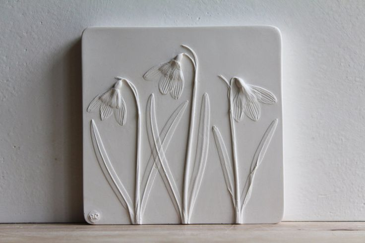 New Plaster Cast Tiles That Immortalize Flowers and Veggies by Rachel Dein | Colossal