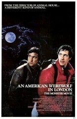 """""""Un hombre lobo americano en Londres"""" de John Landis David y Jack son dos jóvenes estadounidenses que, con sus mochilas a cuestas, han decidido pasar tres meses recorriendo Europa. En Inglaterra, en una zona rural desolada, la gente les da unos consejos escalofriantes: """"no os apartéis del camino y no os acerquéis a los páramos"""", """"cuidado con la luna"""". Cuando los jóvenes emprenden la marcha en la oscuridad, oyen un aullido terrorífico procedente de los páramos .. TERROR"""