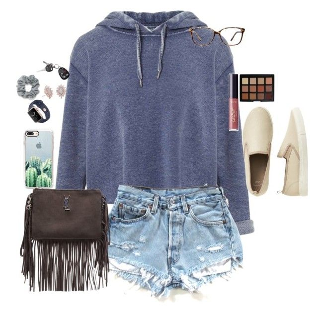 Untitled #369 by racheld24 on Polyvore featuring polyvore fashion style Miss Selfridge Gap Yves Saint Laurent Kendra Scott Casetify Natasha GlassesUSA Morphe tarte clothing