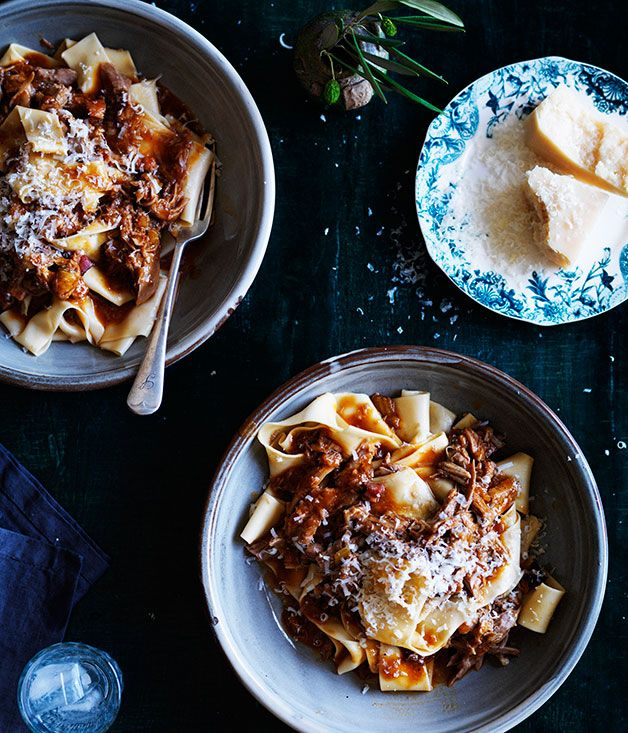 Australian Gourmet Traveller recipe for pappardelle with duck ragù.