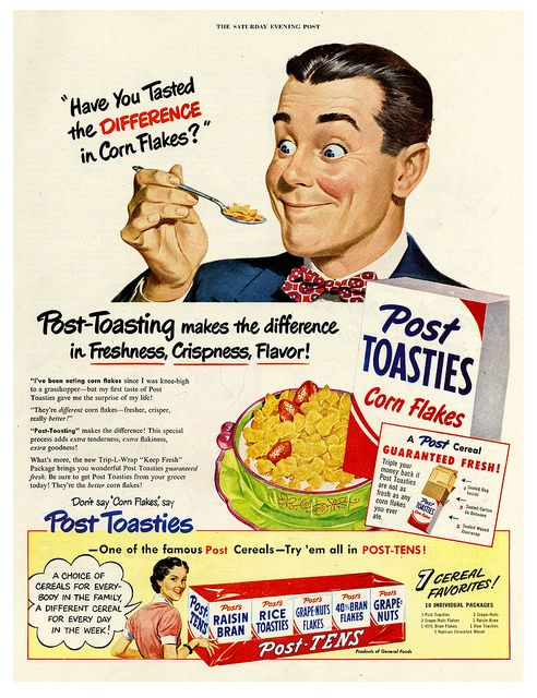 Have you tasted the difference in Cornflakes?  #1950s