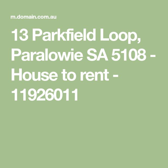 13 Parkfield Loop, Paralowie SA 5108 - House to rent - 11926011