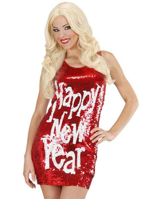 Sequin Dress Happy New Year - Las Fiestas
