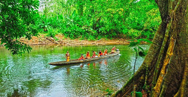 Visit to the Embera Indigenous Community at Chagres National Park, Panama.