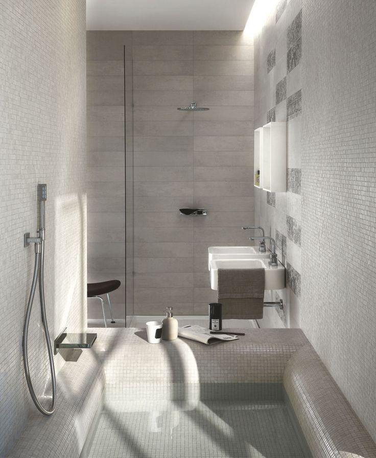 Piastrelle muro bagno e mosaico piatto doccia  Concept - porcelain stoneware for contemporary flooring   Ragno  Piastrelle nella doccia 15*60.