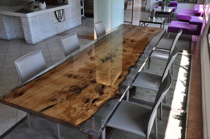 Come costruire tavoli e tavolini in legno con resina ...
