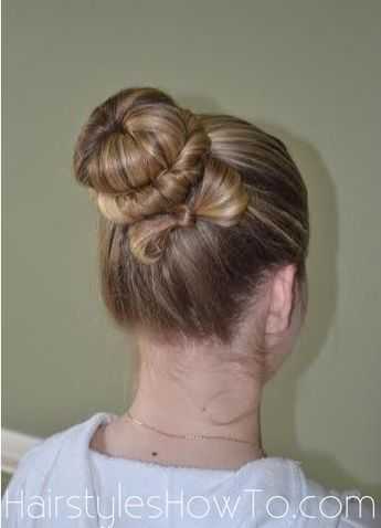 #tbt from our Bow Bun Hair Tutorial