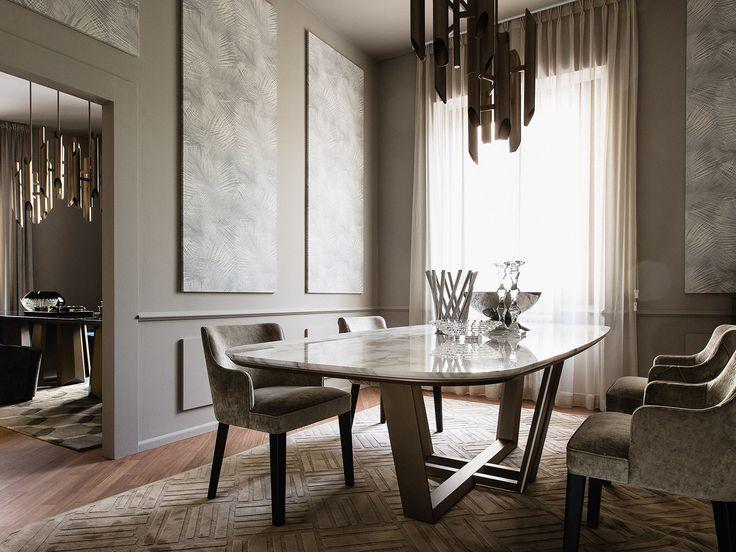 FEELING AT HOME ... BRIDGE dining table, design Marco Boga for Casamilano home collection.