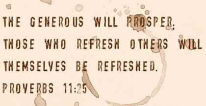 Prosperity Bible Quote