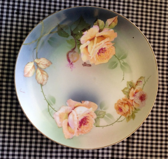 1930s Bavaria Hand Painted Plate Pierre By Artreverie On Etsy, $18.00
