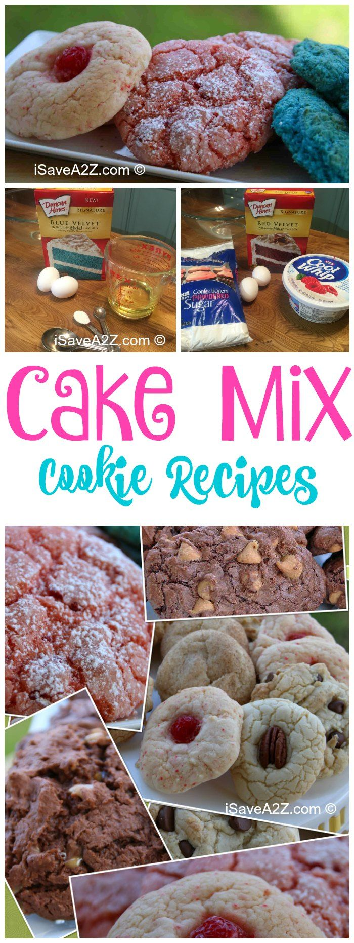 Top 45 Cake Mix Cookie Recipes - it's amazing how light and fluffy these cookies are!  They are the most popular cookies I've ever made!!