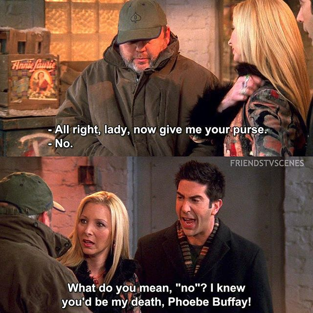 When Ross and Phoebe Were Mugged