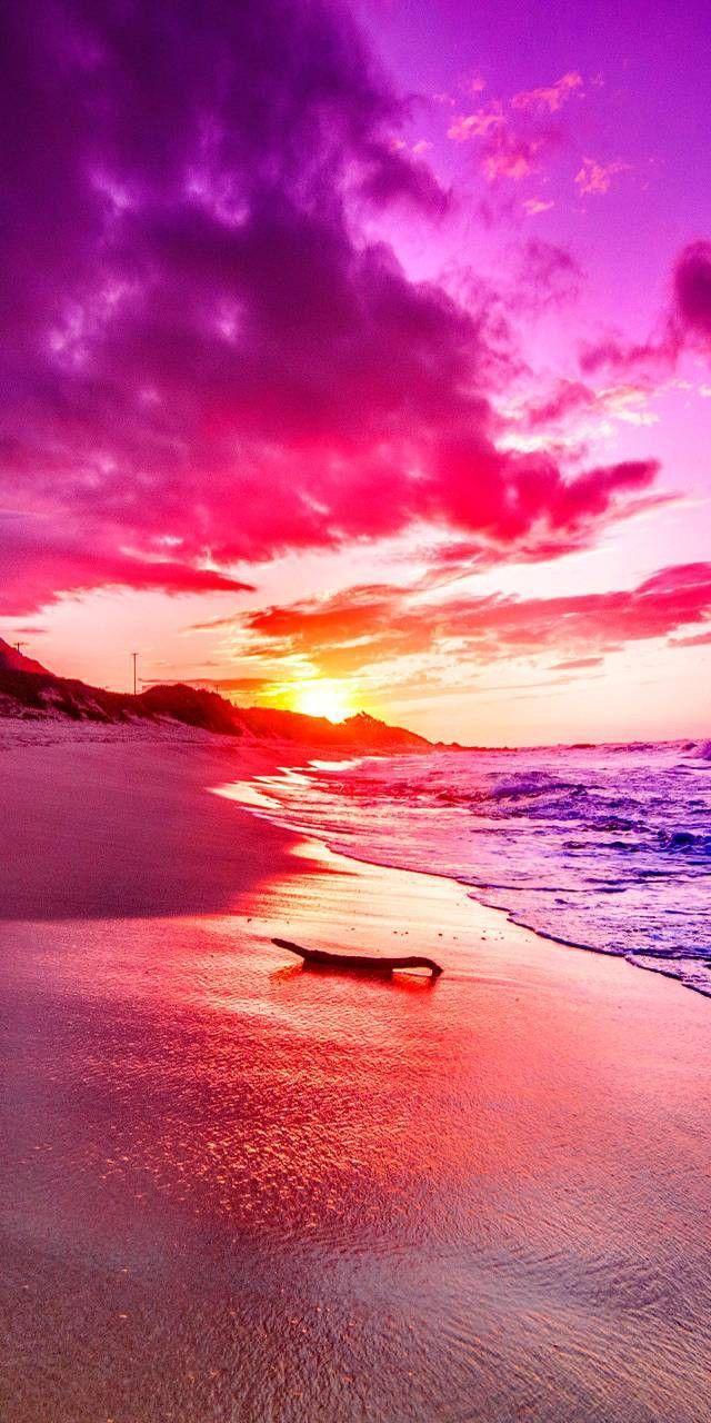 Pin By Natella On Oboi Dlya Telefona Na Lyuboj Cvet I Vkus Beautiful Sunset Ocean Scenery Beautiful Nature Sunset sea pink clouds coast rocks