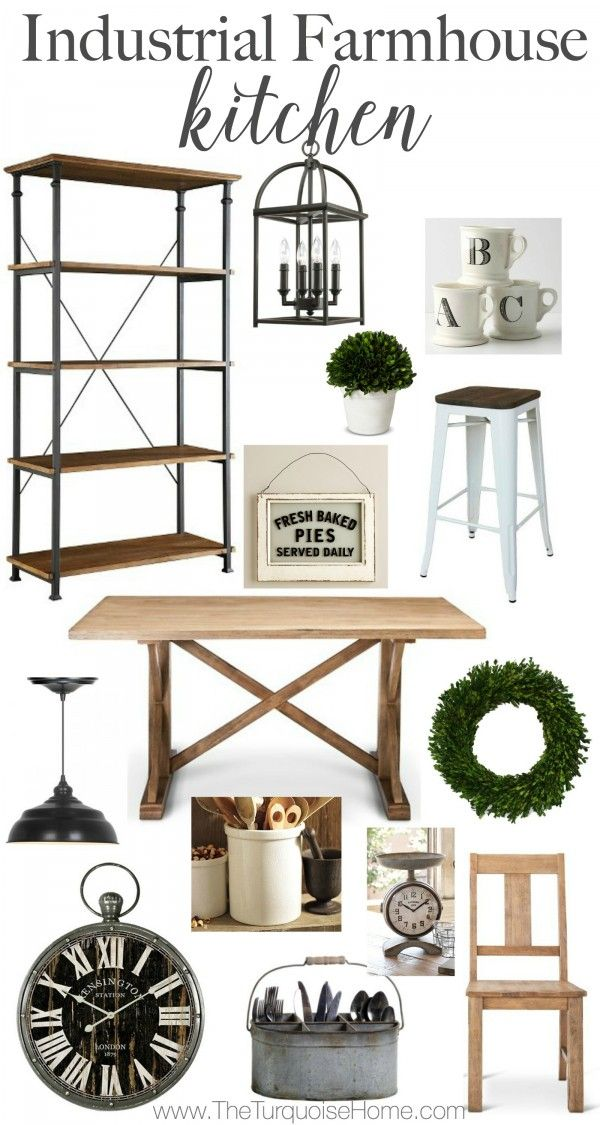 Get the look an industrial farmhouse kitchen details at theturquoisehome com