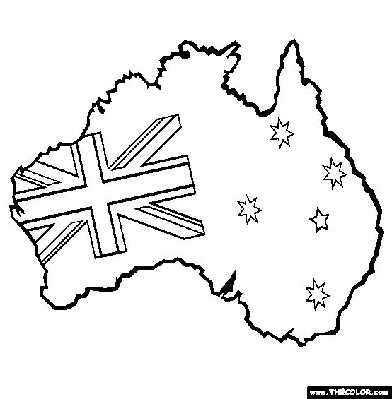 17 best images about australia on pinterest wombat for Australia map coloring page