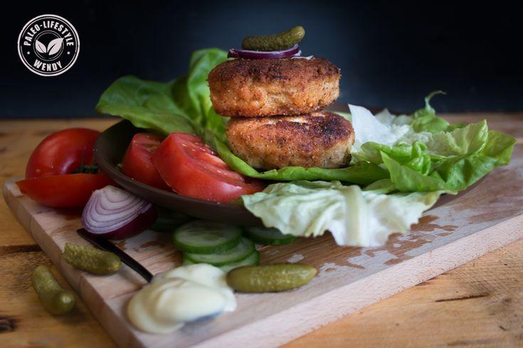 Een heerlijke paleo kipburger. Glutenvrij, lactosevrij en vrij van E-nummers.