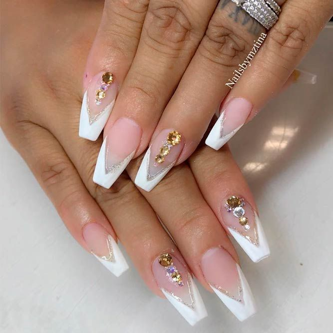 Fancy French Manicure Designs Naildesignsjournal Com Gel French Manicure French Manicure Acrylic Nails Gel Nails French
