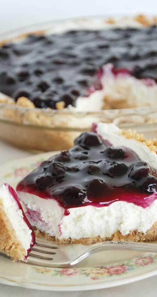 Recipe for No Bake Blueberry Cheesecake - Get your blueberry thrills no matter what season it is! This is as quick and easy as cheesecake recipes get.