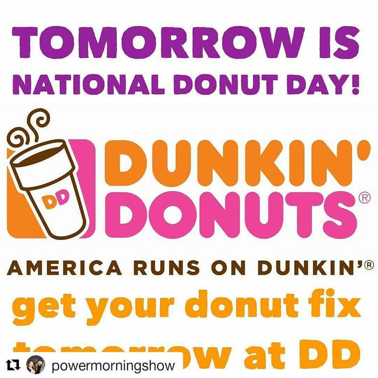 Credit to #powermorningshow  ・・・ Celebrate National Donut Day, June 2nd, with a FREE classic donut from Dunkin' with the purchase of any beverage! America Runs on Dunkin'! (price and participation may vary. Limited time offer.) ☀ ☀ ☀ #HollywoodTapFL #HollywoodFL #HollywoodBeach #DowntownHollywood #Miami #FortLauderdale #FtLauderdale #Dania #Davie #DaniaBeach #Aventura #Hallandale #HallandaleBeach #PembrokePines #Miramar #CooperCity #Plantation #SunnyIsles #MiamiGardens #NorthMiamiBeach…