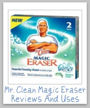 Ways to use the Mr. Clean Magic Eraser for cleaning and stain removal all around your home {on Stain Removal 101}