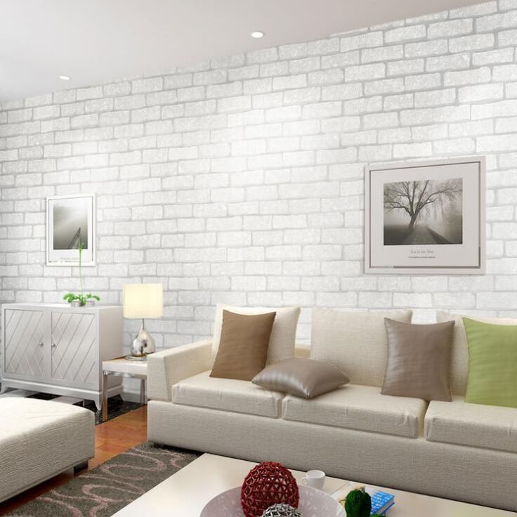 Wonder how a white brick wall would look like in the living room? Check this lovely list! There is something about brick walls that I really like. No matter what kind of space it is, I like to see a brick wall no matter how small that area is. I just like the texture and the natural feel that it brings into the interior of the home.  #WhiteBrickWall #WhiteBrickWallLivingRoom #WhiteBrickWallIdeas
