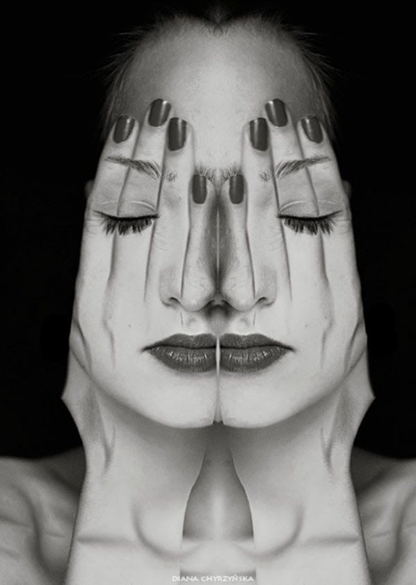 Faces (series of self-portraits) by Diana Chyrzyńska.°