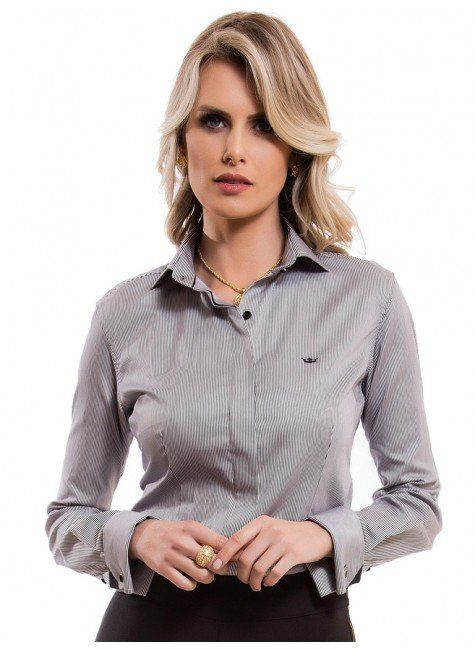 b71f1ba2f camisa feminina listrada premium principessa flora look tecido ...