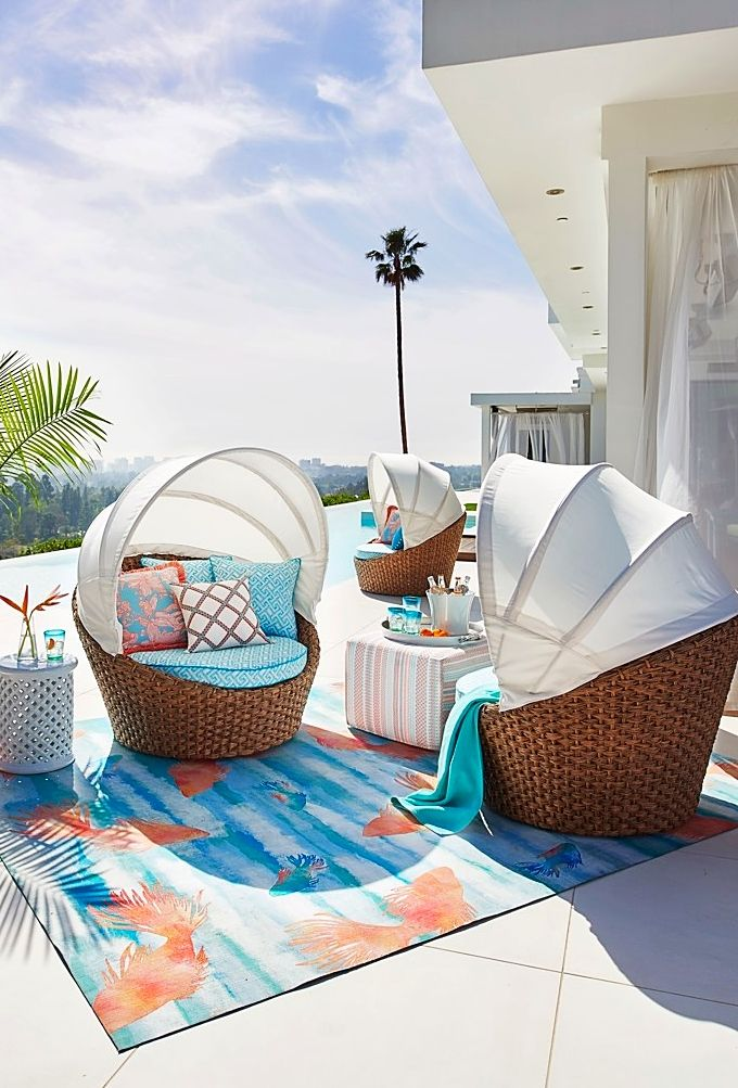 transform your outdoor space into a tropical port of call with our island