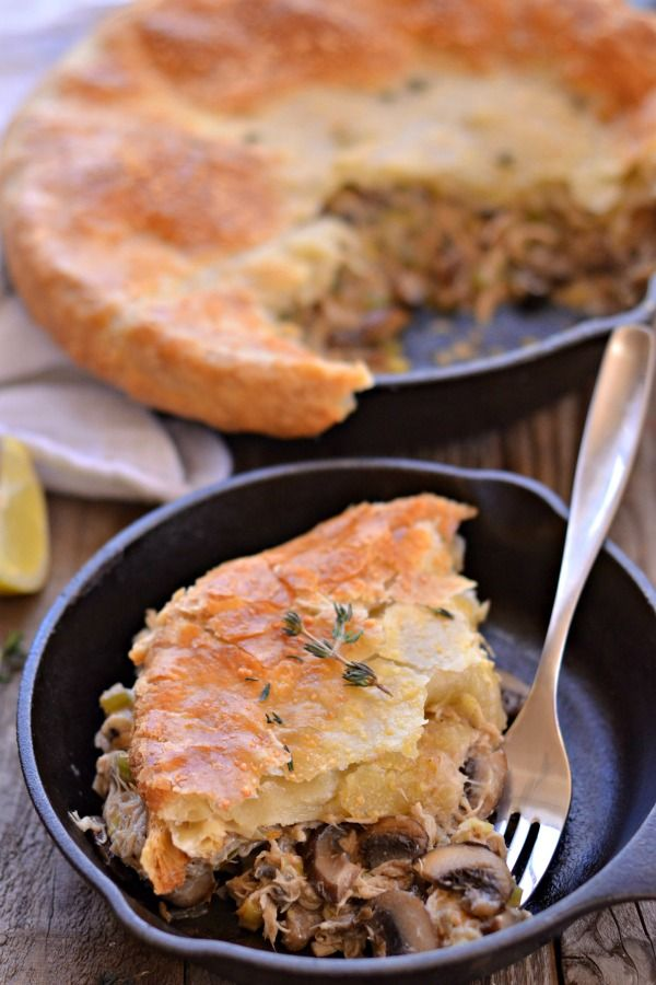 Chicken Mushroom Pot Pie | mountainmamacooks.com