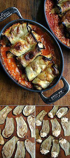 Итальянские инвольтини (рулетики) из баклажана | Вкуснолог...