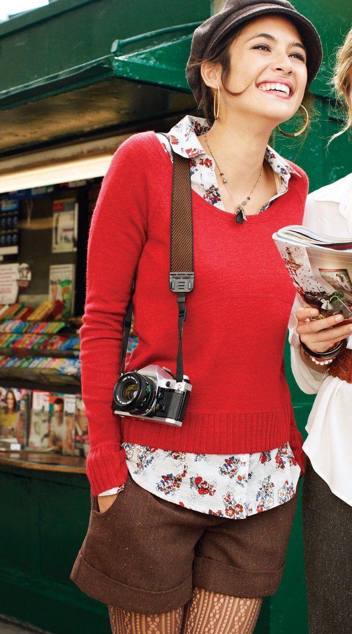 秋カラーで季節を楽しんで!夏だけじゃないショートパンツ♡ショーパン コーデの秋冬 ファッションを集めました!