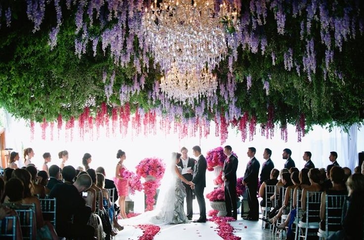 Absolutely LOVE this wedding ceremony design.