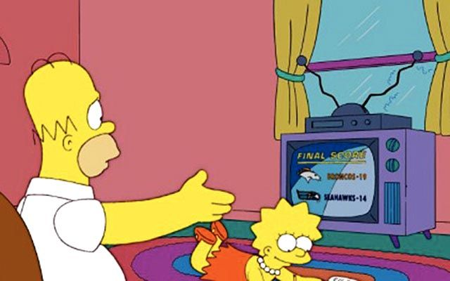 Simpsons predicted Broncos-Seahawks Super Bowl in 2005