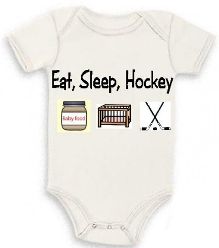 Eat Sleep Hockey Newborn Baby Infant Bodysuit One Piece