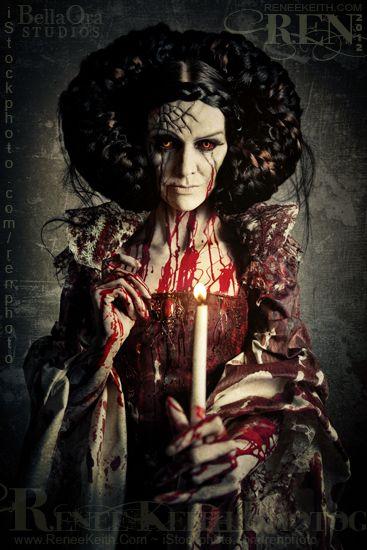 Bloody Mary ~ Photography by Renee Keith / SPFX & Makeup: Chris Hanson, Wardrobe: Pretty Macabre, Hair: Danielle Zaugg, Model: Chaunsey Hildebrandt