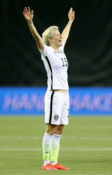 Megan Rapinoe after the United States' 2-0 victory over Germany, June 30, 2015. (Elsa/Getty Images North America)