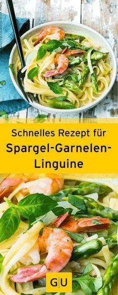 Spargel-Garnelen-Linguine