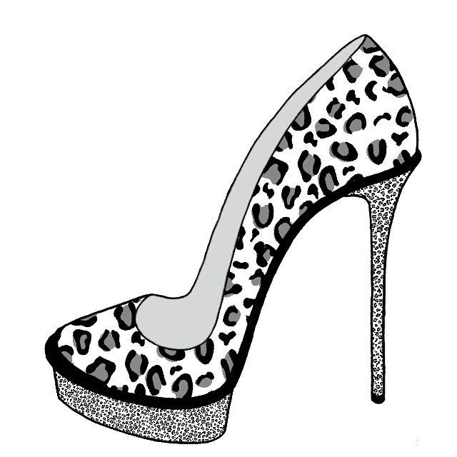 Открытки, картинки туфельки для срисовки