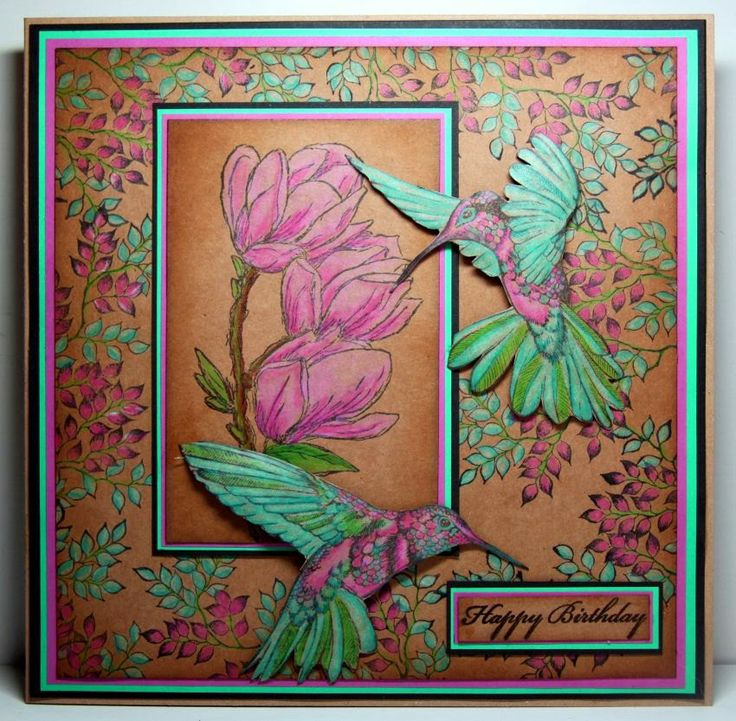 Felicie`s Creativwelt: leafy branch and hummingbirds by Designs by Ryn