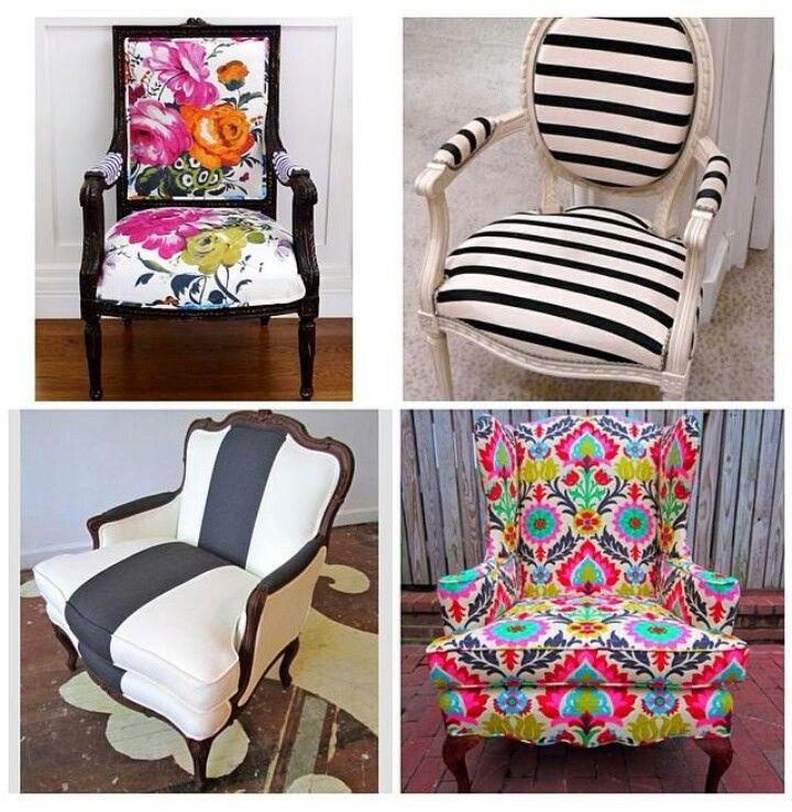 Sillas vintage con un tapizado súper cool #decoracion #hogar #tapizados