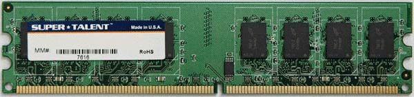 Super Talent DDR2-533 2GB/128x8 CL4 Value Memory