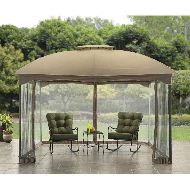 Outdoor gazebo canopy 10x12 patio tent garden decor cover for Garden decking with gazebo