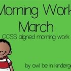 Thank you for looking at my product!  This morning work is aligned to CCSS standards as well as  AIMSweb preparation.   The following CCSS standard...