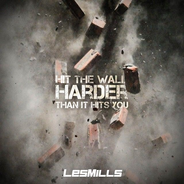 "Les Mills ""Hit the wall harder than it hits you"" promo"